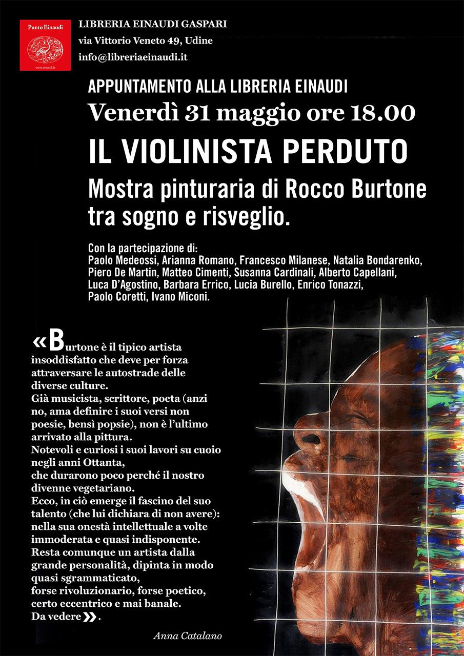 Mostra di Rocco Burtone in Libreria Eiunaudi, Udine